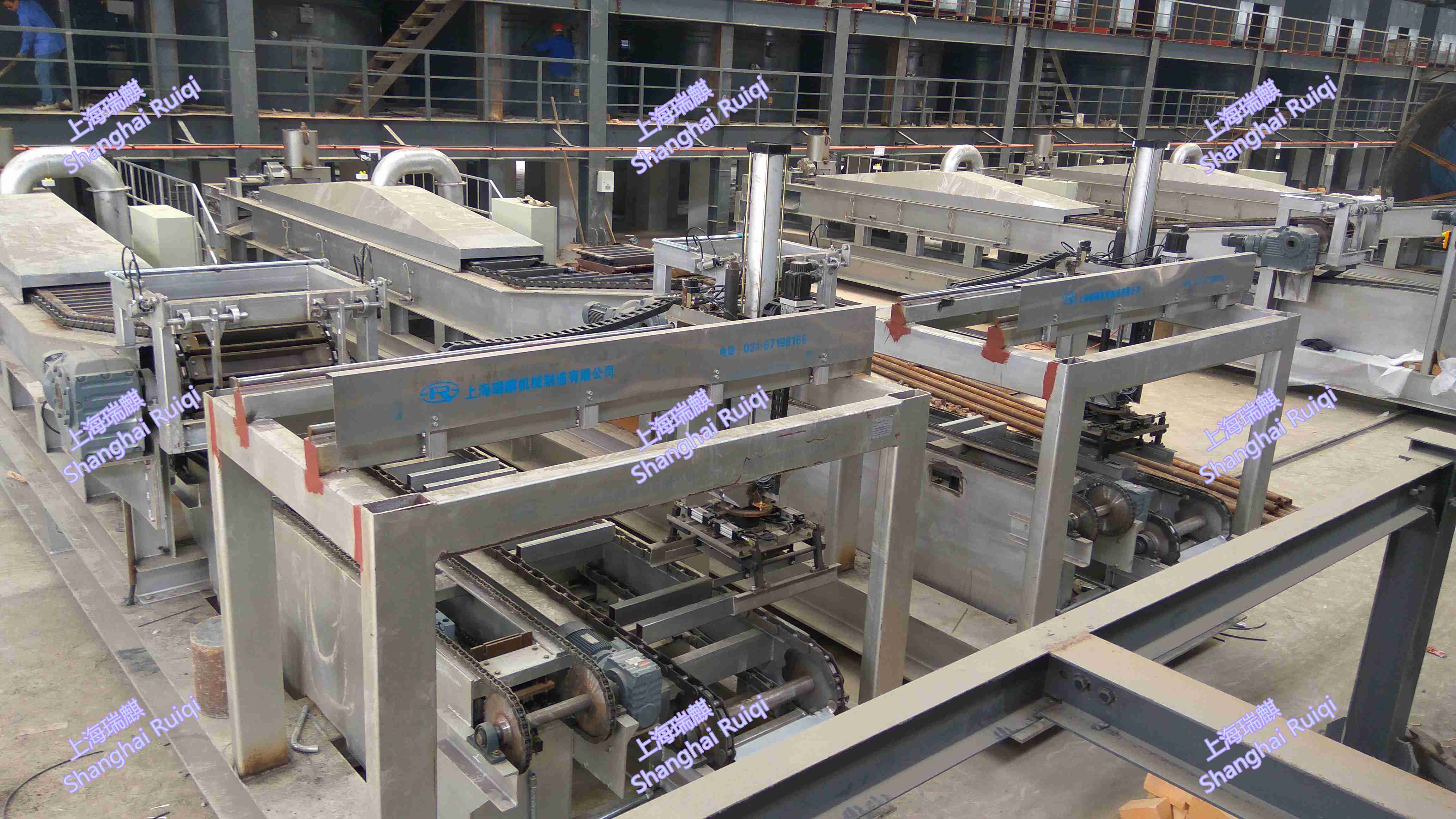 movable type lead ingot casting and stacking machine/ CONVEYOR/ CASTER/ STACKER